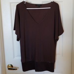 EXPRESS CHOCOLATE BROWN BLOUSE SIZE L